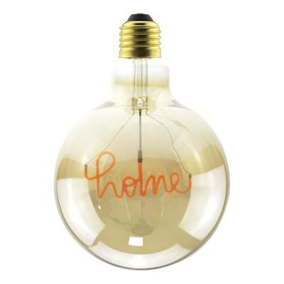 "LED Golden Light Bulb for pendant lamp - Globe G125 Single Filament ""Home"" - 5W E27 Decorative Vintage Dimmable 2000K"