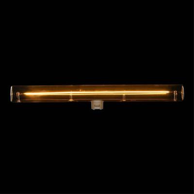 S14d LED tube transparent light bulb - 300 mm length 8W 2000K dimmable - for S14 System