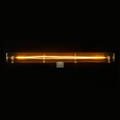 S14d LED tube gold light bulb - 300 mm length 8W 2000K dimmable - for S14 System