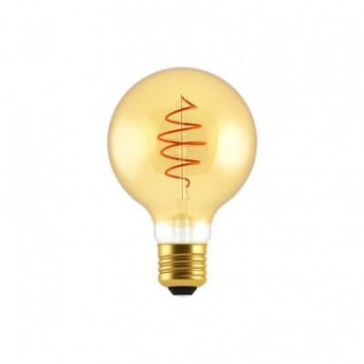 LED Bulb Globe G80 Golden Croissant Line with Spiral Filament 5W E27 Dimmable 2000K