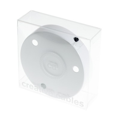 Box with 3 Holes White Cylinder Rosette Kit, bracket, screws and 3 cable retainers