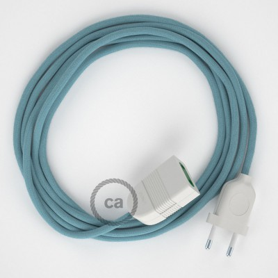 Ocean Cotton fabric RC53 2P 10A Extension cable Made in Italy