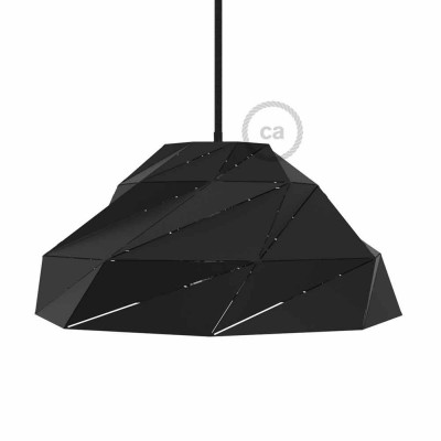 Nuvola Lampshade in opaque black metal with E27 lamp holder