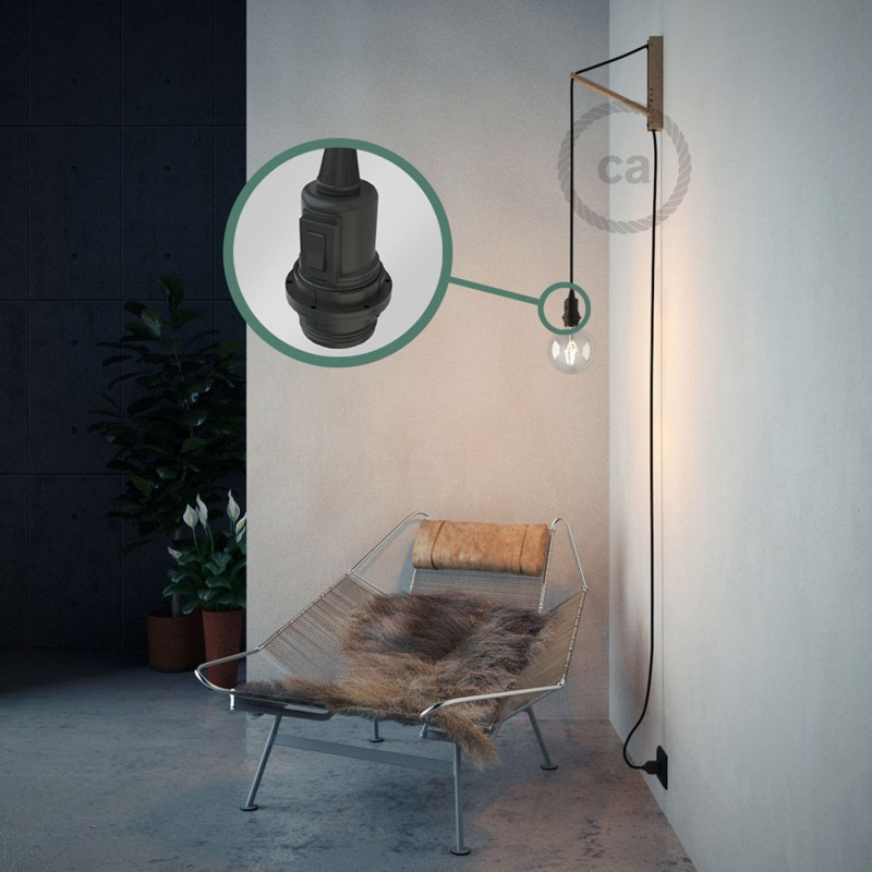 Create your RM04 Black Rayon Snake for lampshade and bring the light wherever you want.