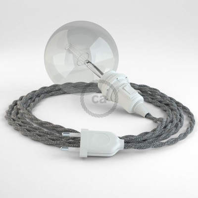 Create your TN02 Grey Natural Linen Snake for lampshade and bring the light wherever you want.