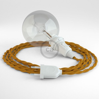 Create your TM25 Mustard Rayon Snake for lampshade and bring the light wherever you want.