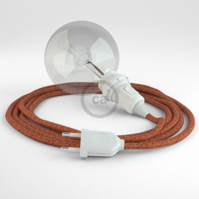 Create your RX07 Indian Summer Cotton Snake for lampshade and bring the light wherever you want.