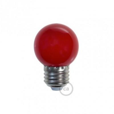 Decorative G45 Miniglobe LED bulb 1W E27 2700K - Red