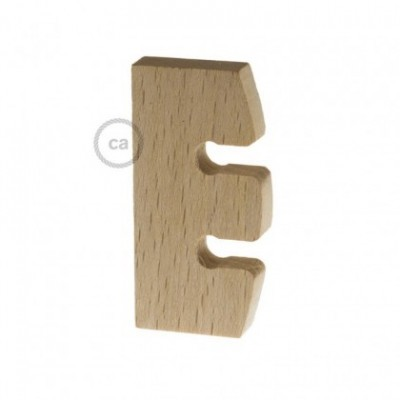 Suspension Lamp Height regulator in untreated neutral wood. Made in Italy.