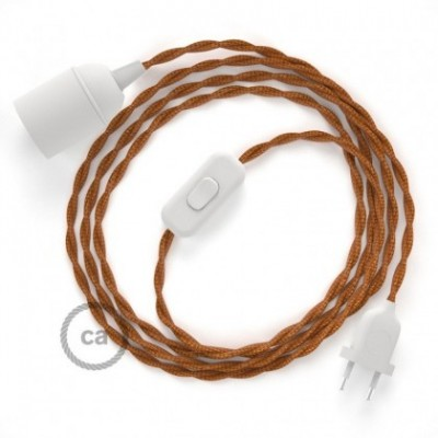 SnakeBis wiring with lamp holder and fabric cable - Whiskey Rayon TM22