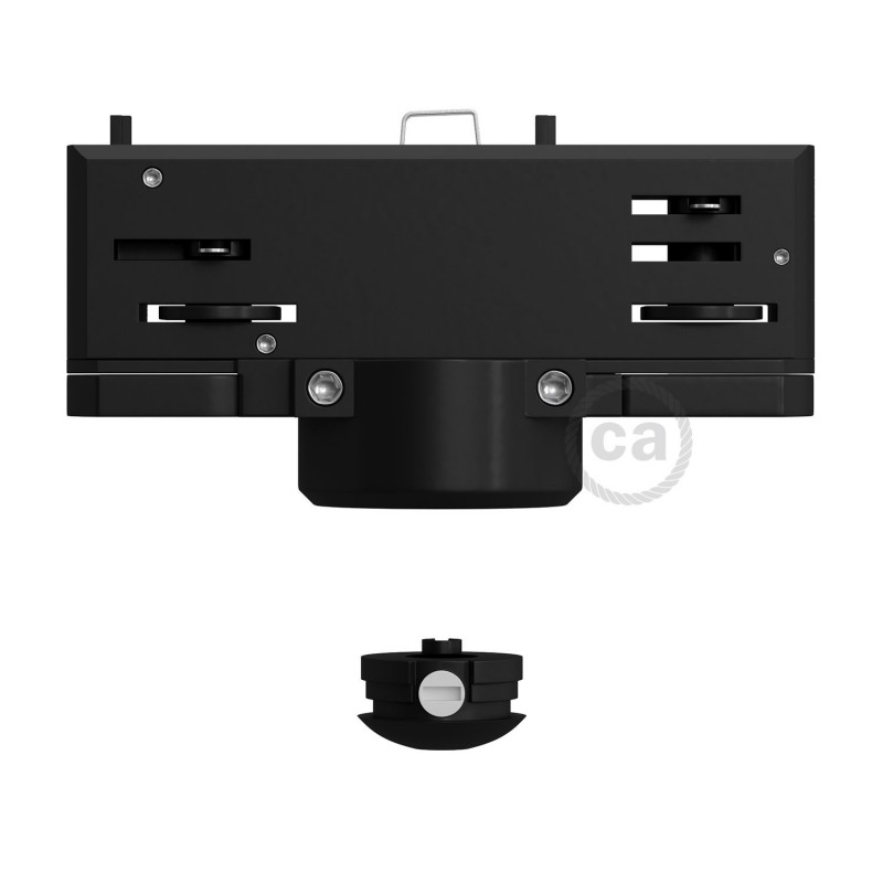 Eutrac black suspension multiadaptor for 3 phase circuit tracks