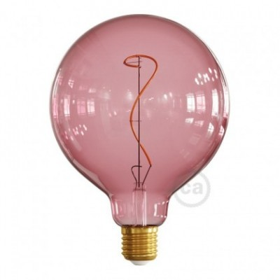 G125 Berry red light bulb, Pastel line, vine filament, 4W E27 Dimmable 2200K