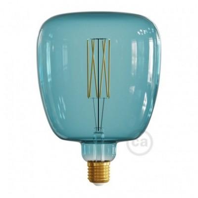 Bona Ocean blue XXL light bulb, Pastel line, straight filament, 4W E27 Dimmable 2200K