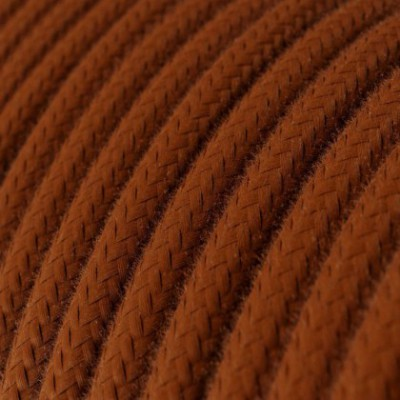 Round Electric Cable covered by Cotton solid color fabric RC23 Deer