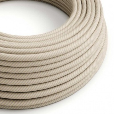 Round Electric Vertigo Cable covered by Straw Cotton and Linen ERD20