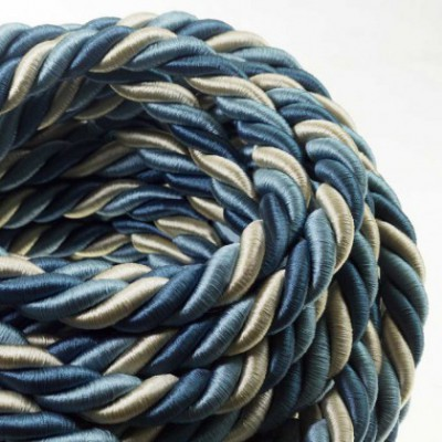 2XL electrical cord, electrical cable 3x0,75. Bright fabric covering Bernadotte. Diameter 24mm.
