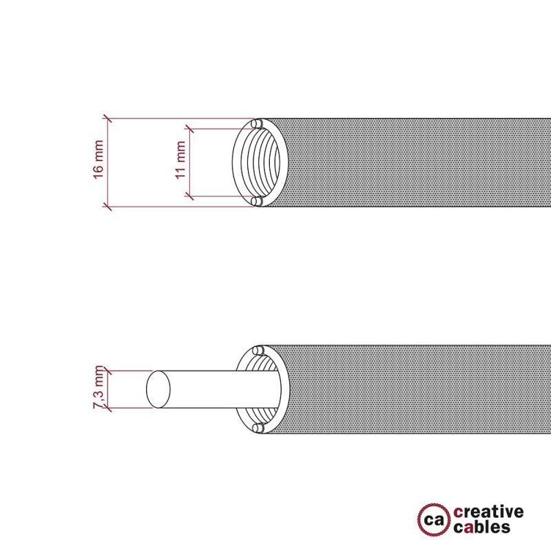 Creative-Tube flexible conduit, Jute RN06 fabric covering, diameter 16 mm