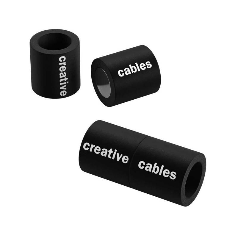 Matt black magnetic clasp for bracelets with logo - 5 pcs