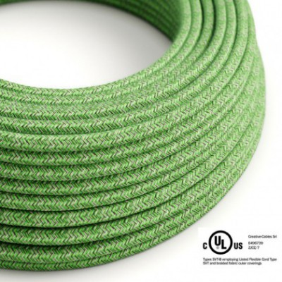 Round Electric Cable 150 ft (45,72 m) coil RX08 Bronte Cotton - UL listed
