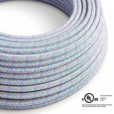 Round Electric Cable 150 ft (45,72 m) coil RX09 Lollipop Cotton - UL listed