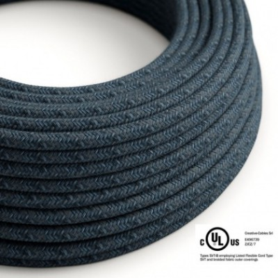 Round Electric Cable 150 ft (45,72 m) coil RX10 Blue Mirage Cotton - UL listed