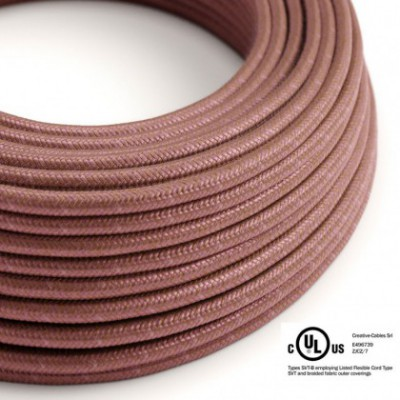 Round Electric Cable 150 ft (45,72 m) coil RX11 Marsala Cotton - UL listed