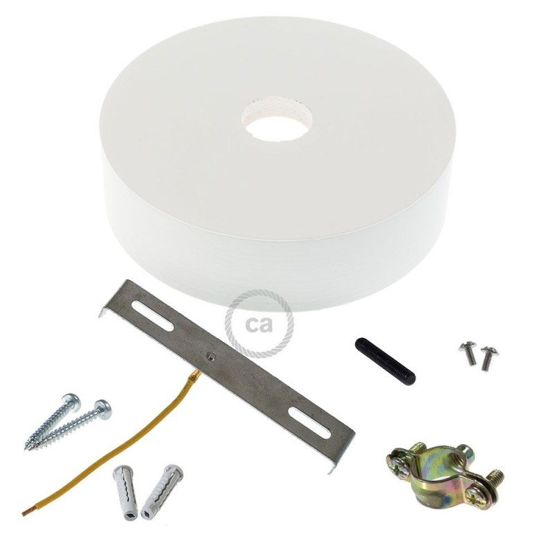 Wooden ceiling rose kit for 2XL cord