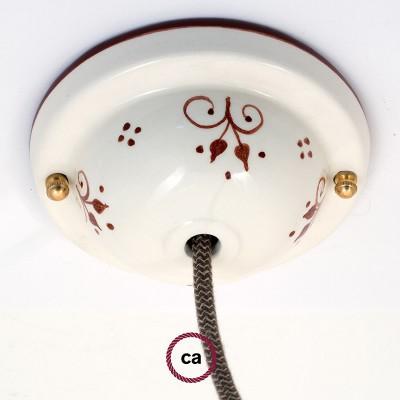 Ceramic Deco-81 Berries ceiling rose kit