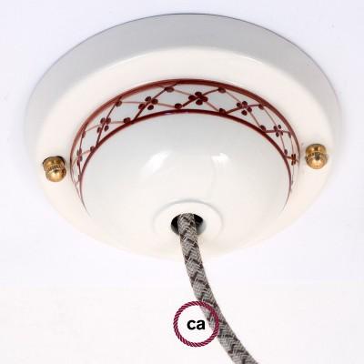 Ceramic Deco-82 Ivy ceiling rose kit