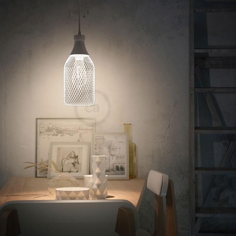 Bottle-shaped naked light bulb cage metal lampshade Jéroboam