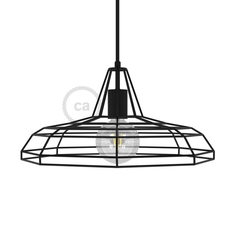 Sonar XL naked cage metal Lampshade with E27 lamp holder
