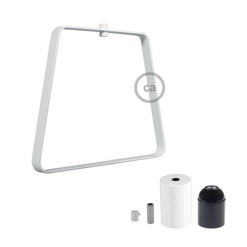 Metal Duedì Base lampshade with metal lamp holder cover and E27 lamp holder