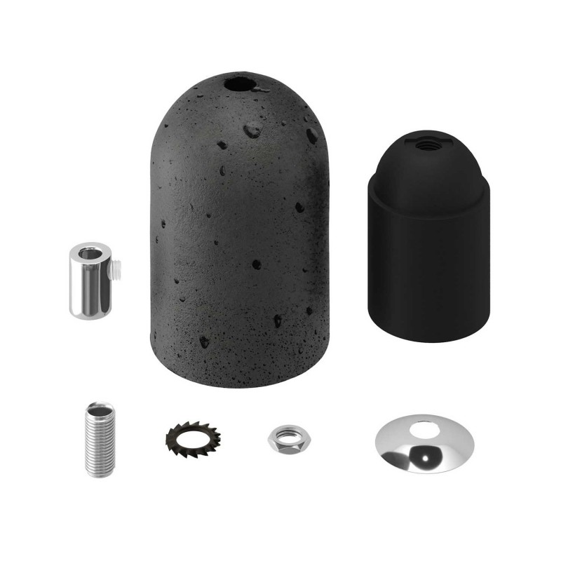 Cement E27 lamp holder kit