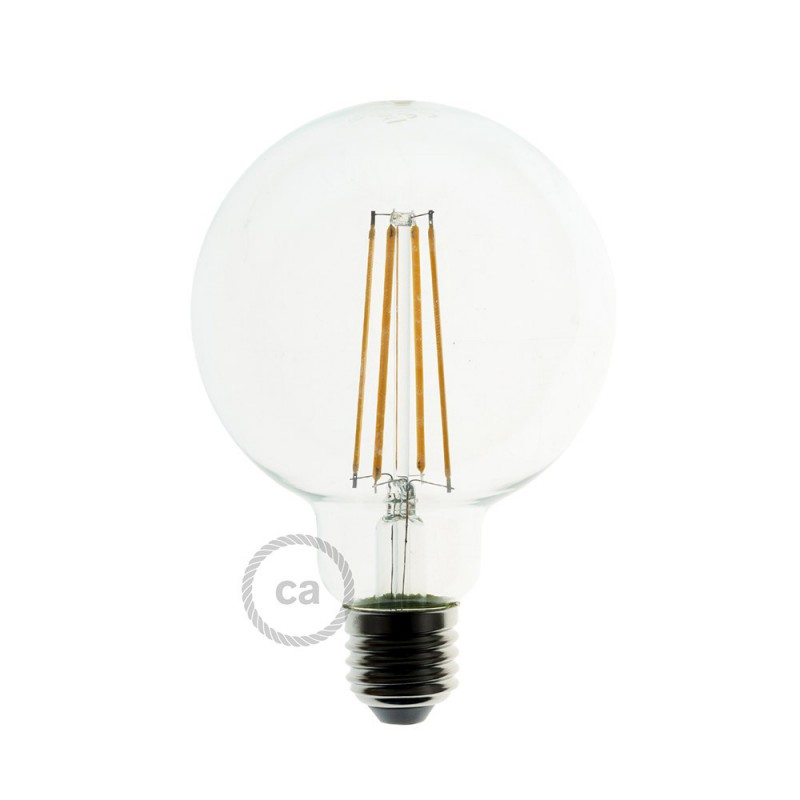 Pendant lamp with textile cable, Apollo lampshade and metal details - Made in Italy