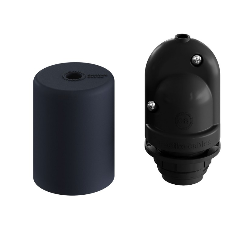 EIVA ELEGANT, E27 outdoor silicone lamp holder kit for lampshade - the first IP65 re-wirable lamp holder worldwide