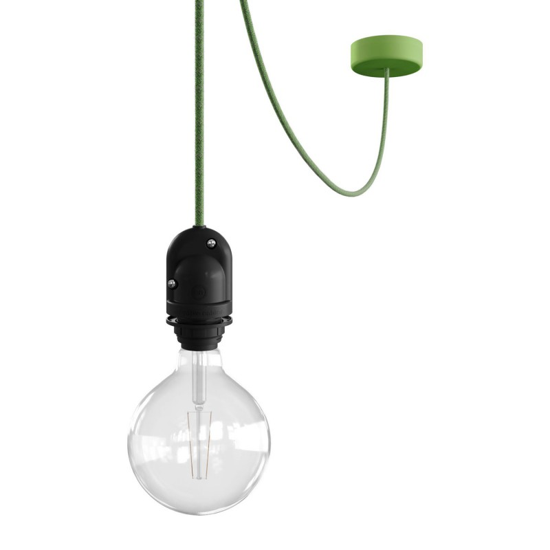 EIVA Outdoor pendant lamp for lampshaed with 5 mt textile cable, decentralizer, silicone ceiling rose and lamp holder IP65
