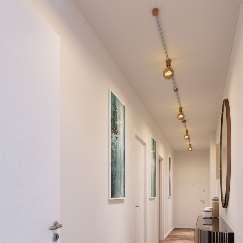 Filé System Symmetric Kit - with 5m string light cable and 9 indoor wooden components