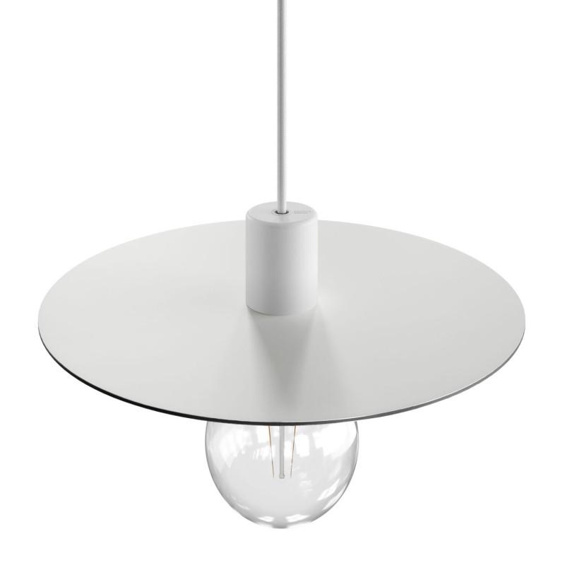 Oversize Ellepì flat lampshade in Dibond for outdoor pendant lighting, diameter 40 cm - Made in Italy