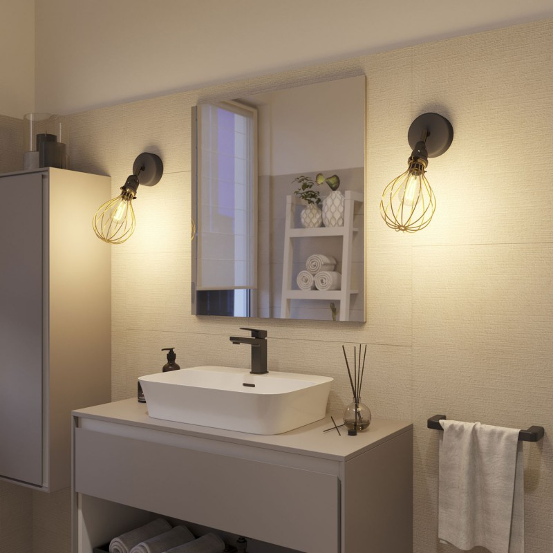 Fermaluce EIVA with Drop lampshade, adjustable joint and lamp holder IP65 waterproof