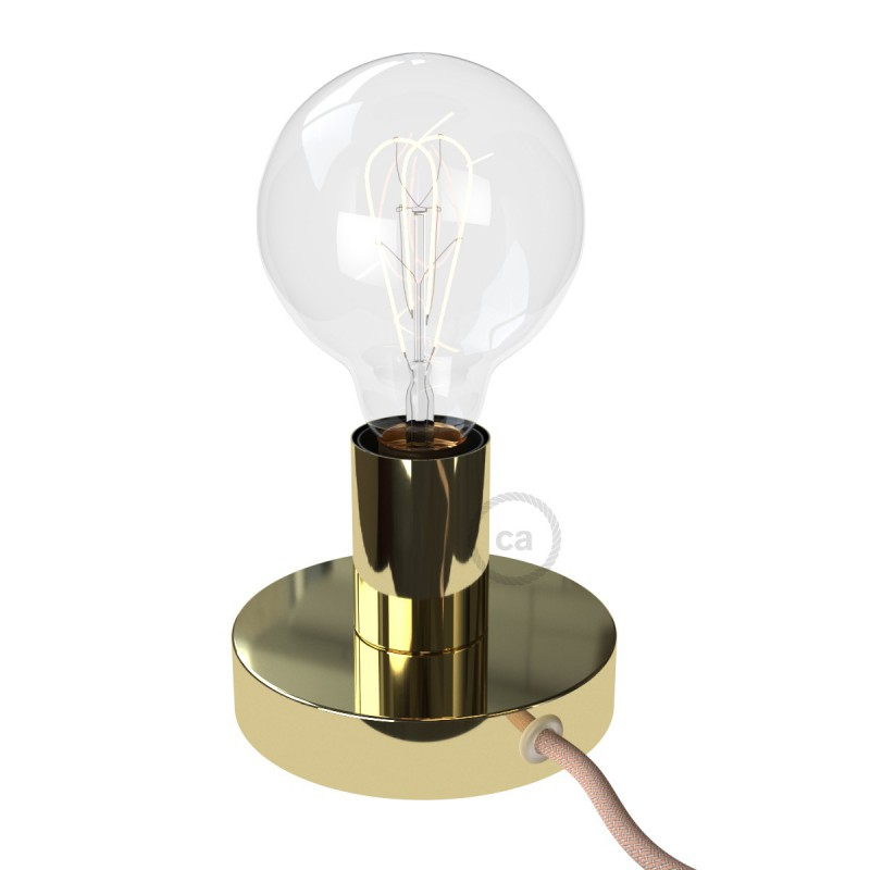 Posaluce Metal, our metal table lamp complete with fabric cable, switch and UK plug