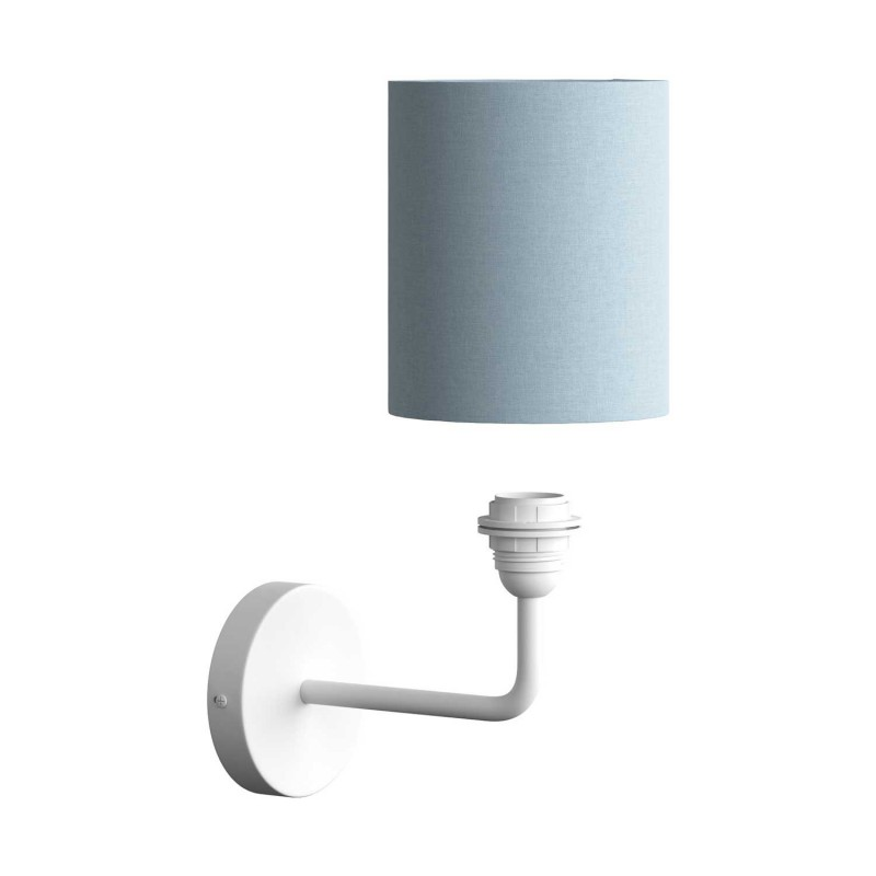 Fermaluce Metal metal wall light with lampshade and bent extension
