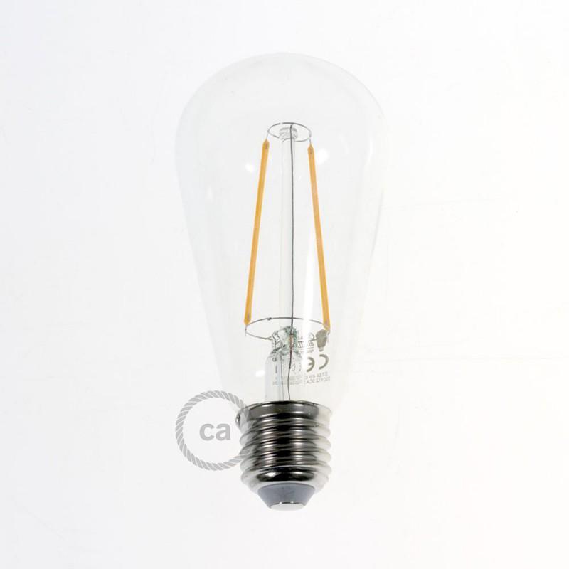 Fermaluce Metal 90°, adjustable metal wall flush light with Drop lampshade