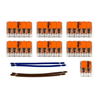 WAGO connector kit compatible with 2x cable for 10 hole ceiling rose