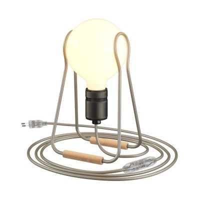 Taché Elegant, table lamp complete with a fabric cable, switch and two-pin plug