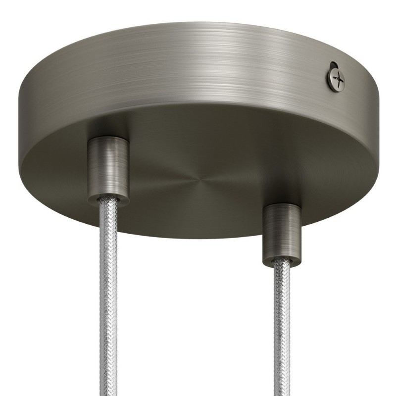 Cylindrical metal 2-hole ceiling rose kit