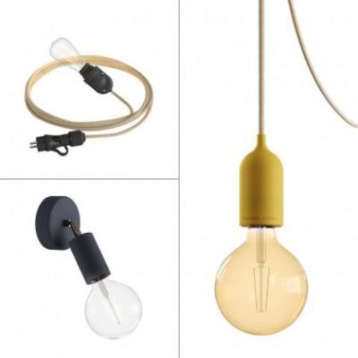 Trio Eiva System outdoor kit: Eiva Snake, suspension Eiva Pastel and Fermaluce Elegant Eiva wall light