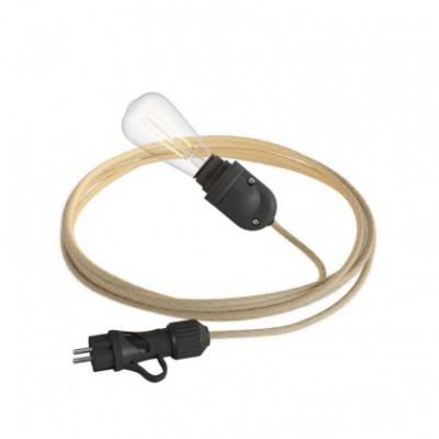 Pro Eiva System outdoor kit: Eiva Snake, suspension Eiva Pastel, Fermaluce wall light and pendant Eiva with Bistrot lampshade