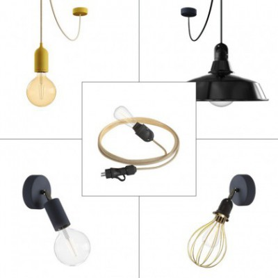 Deluxe Eiva System outdoor kit: Eiva Snake, Eiva suspension, Fermaluce, suspension with Bistrot and Fermaluce with lampshade