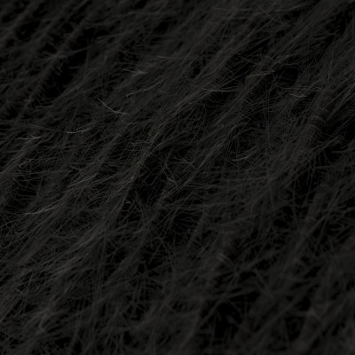Marlene twisted lighting cable covered in hairy-effect fabric Plain Black TP04
