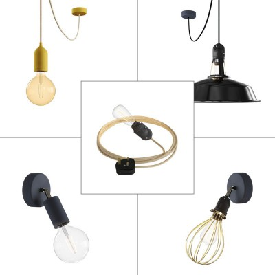 Deluxe Eiva System outdoor kit: Eiva Snake, Eiva suspension, Fermaluce, suspension with Harbour and Fermaluce with lampshade